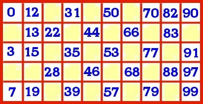 bingo grille