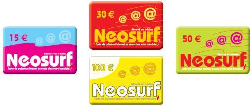 Carte néosurf