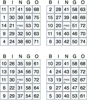 Grille de bingo