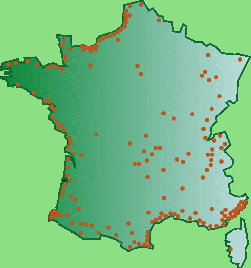 carte des casinos en france