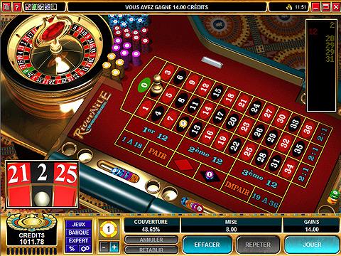 jeu roulette anglaise