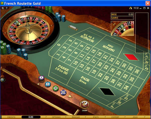 table de roulette casino
